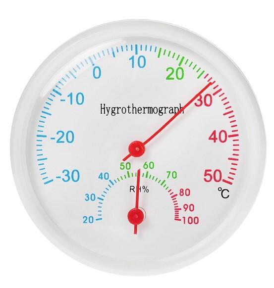Термометр-гигрометр уличный D6.5см белый 1430098 купить в Белгороде по низкой цене - Стройландия